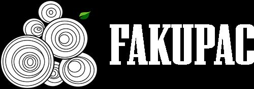 Fakupac logo, fehér