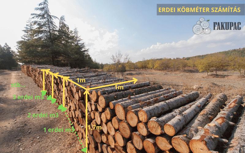 A fa erdei köbméter számítása