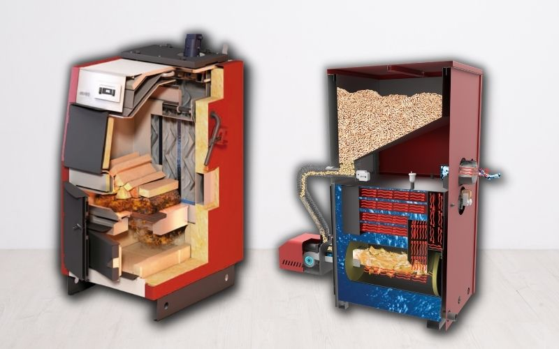 korszerű fa fűtési rendszerek a faelgázosító kazán és a pelletkazán